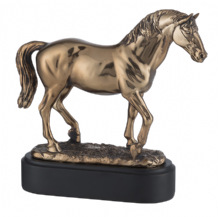 BRONZE PLATED HORSE FIGURE
